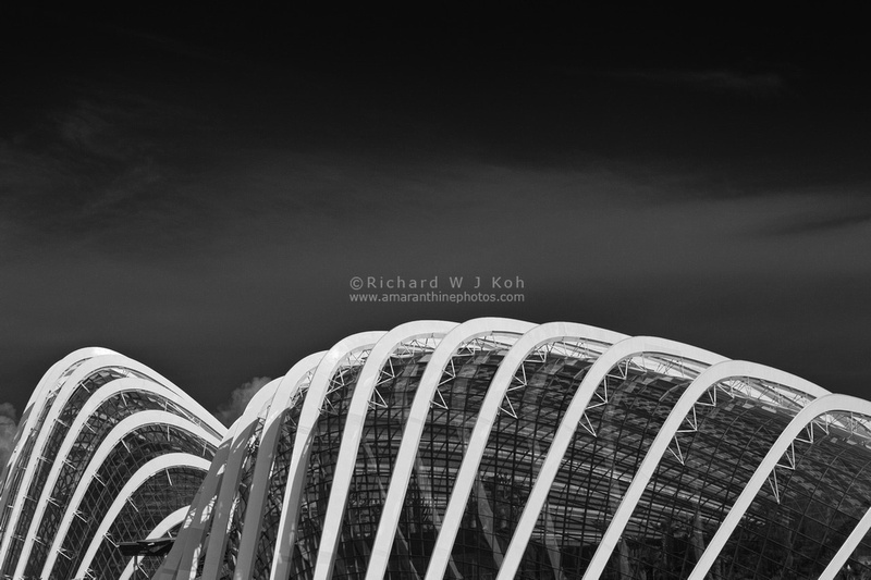 Gardens By The Bay Conservatories domes Singapore black and white day time
