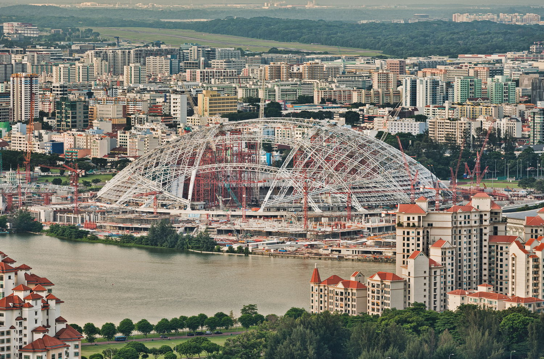 Singapore Sports Hub construction