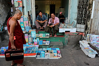 Yangon roadside bookshop