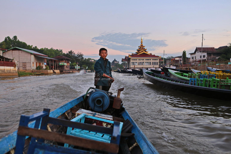 Inle Lake boat boy captain