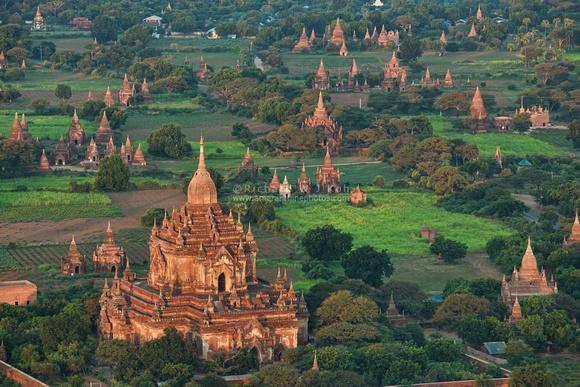 Amaranthine Photos   Bagan   Bagan aerial photo morning