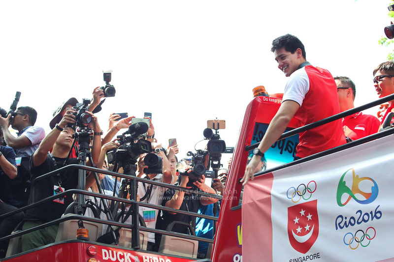 Joseph Schooling victory parade in Singapore