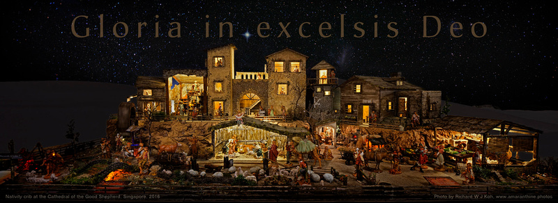 Christmas 2016 - Nativity crib at the Cathedral of the Good Shepherd