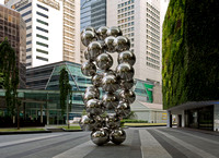 "Sir Anish Kapoor's sculpture ""Tall Tree in the Eye"" at Ocean Financial Centre, Singapore"
