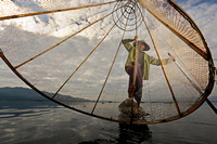 Inle Lake fisherman morning