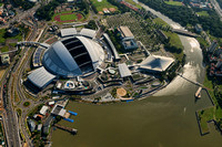 Singapore National Stadium (Sports Hub) aerial photo